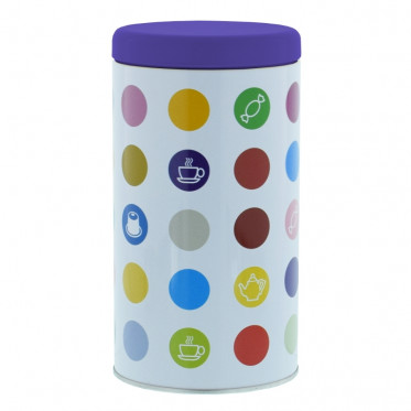 """Boite de conservation pour Café """"Confettis"""" : Violet - 500 gr"""