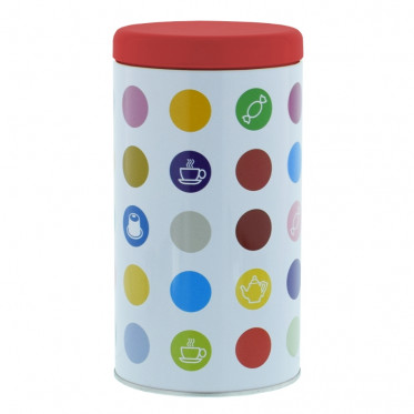 """Boite de conservation pour Café """"Confettis"""" : Rouge - 500 gr"""