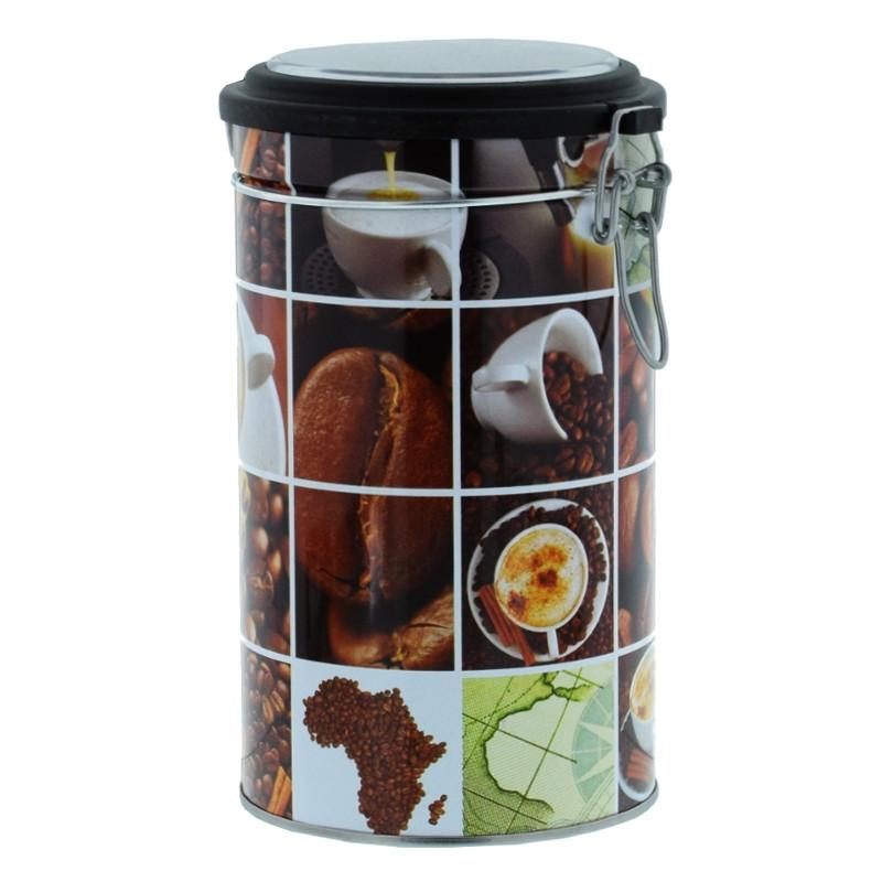 boite de conservation herm tique pour caf damier caf 500 gr coffee webstore. Black Bedroom Furniture Sets. Home Design Ideas