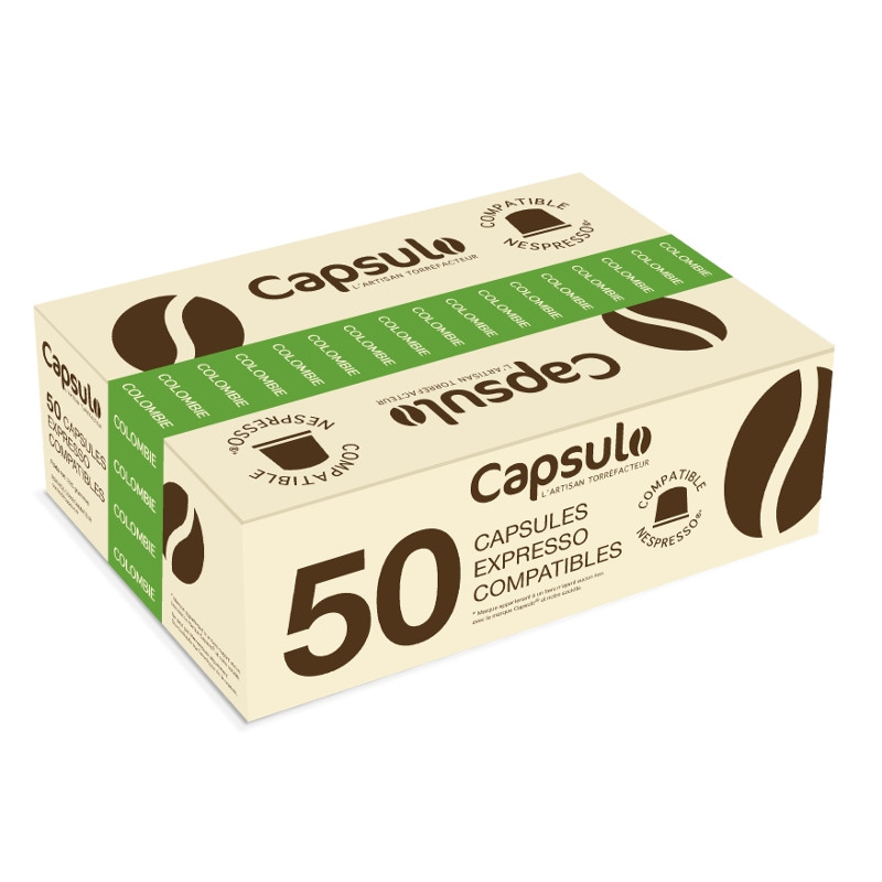 capsule nespresso compatible capsulo colombie 50 capsules coffee webstore. Black Bedroom Furniture Sets. Home Design Ideas