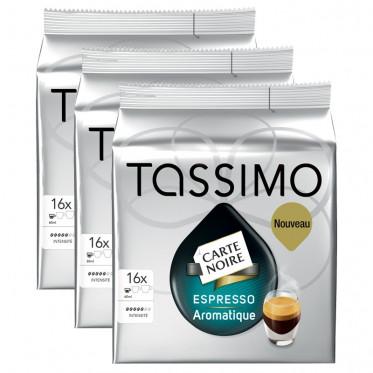 Capsule Tassimo Carte Noire Expresso Aromatique 3 paquets - 48 T-Discs