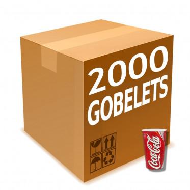 Gobelet en Gros en Carton Coca Cola 30 cl par 2000