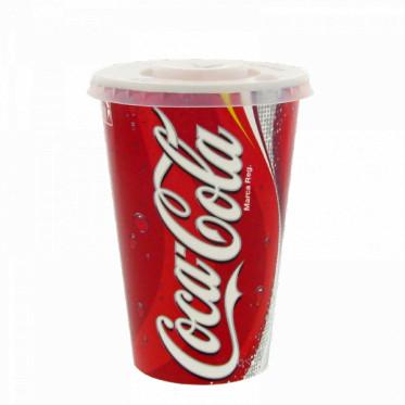 Gobelet en Carton Coca Cola 40 cl avec Couvercles - par 100