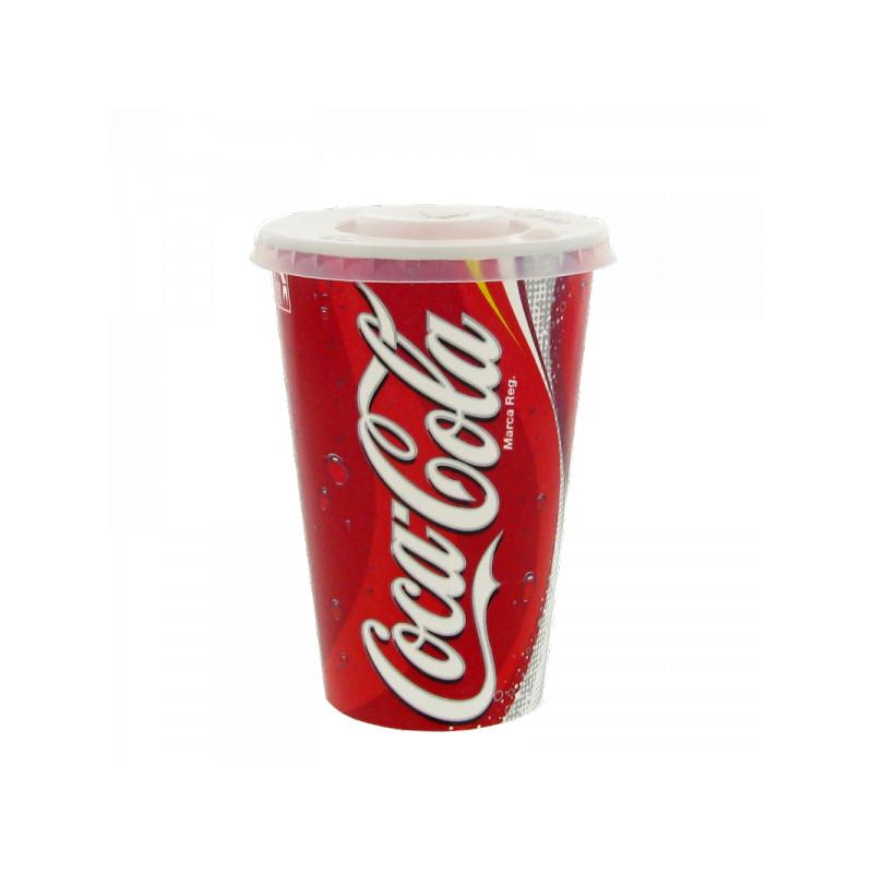gobelet en carton coca cola 40 cl avec couvercles par. Black Bedroom Furniture Sets. Home Design Ideas