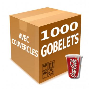 Gobelet en Gros en Carton avec couvercles Coca Cola 40 cl - par 1000