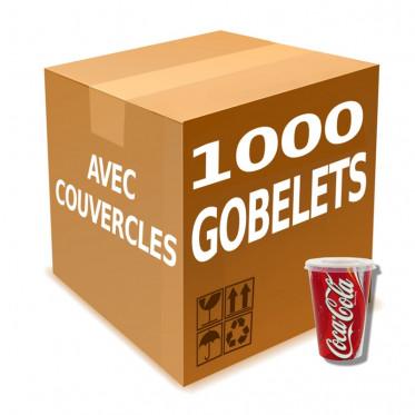 Gobelet en Gros en Carton avec couvercles Coca Cola 50 cl - par 1000