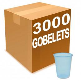 Gobelets en Gros à eau en Plastique Bleu Transparent 20 cl x 3000