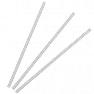 Touillette (spatule) : Pailles rigides transparentes - par 500