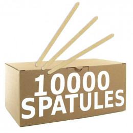 Touillettes (spatules) en Bois Biodégradable 140 mm par 10000