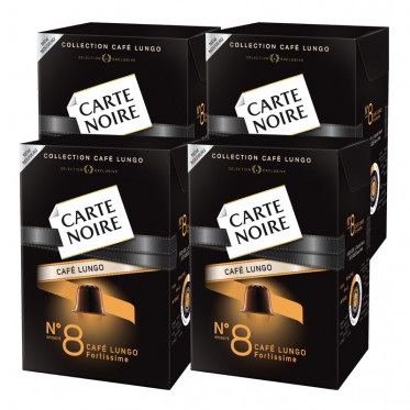 "Capsule Nespresso Compatible Carte Noire n°8 Café Long ""Fortissime"" 4 boites - 40 capsules"