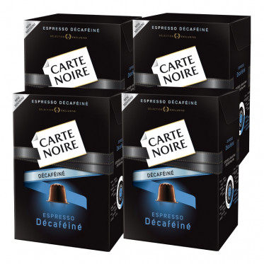 Capsule Nespresso Compatible Carte Noire n°5 Espresso Décaféiné 4 boites - 40 capsules