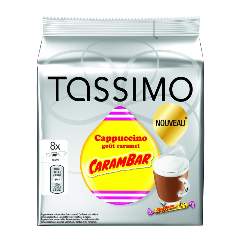 capsule tassimo cappuccino go t carambar 5 paquets 40 t. Black Bedroom Furniture Sets. Home Design Ideas