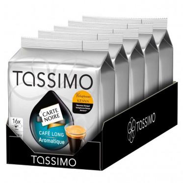 Capsule Tassimo Carte Noire Café Long Aromatique 5 paquets - 80 T-discs