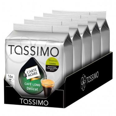 Capsule Tassimo Carte Noire Café Long Délicat 5 paquets - 80 T-discs