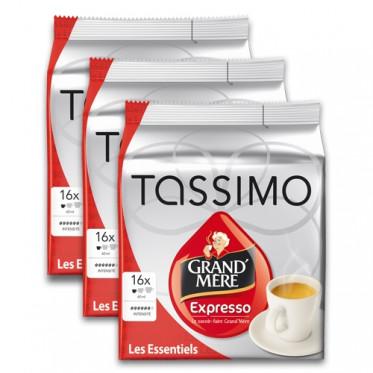 Capsule Tassimo Grand'Mère Expresso 3 paquets - 48 T-Discs