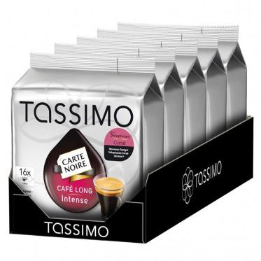 Capsule Tassimo Carte Noire Café Long Intense 5 paquets - 80 T-Discs
