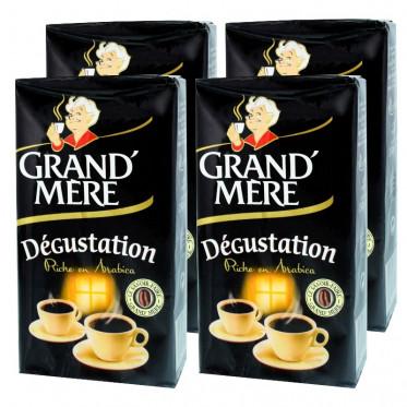 Café Moulu Grand'Mère Dégustation - Lot de 4 paquets - 1 Kg
