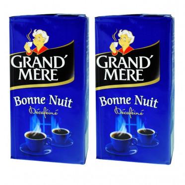 Café Moulu Grand'Mère Bonne Nuit Décaféiné - Lot de 2 paquets - 500 gr