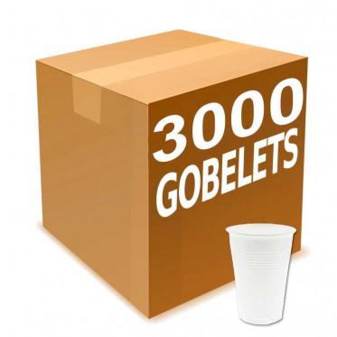 Gobelets en gros en Plastique Blanc pour boissons chaudes 20 cl x 3000 gobelets
