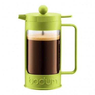 Cafetière filtre / Piston Bodum : Bean Vert Citron 1L + cuillère doseuse