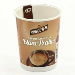 Gobelet pré-dosé premium Van Houten Saveur Chocolat blanc praliné