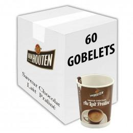 Gobelet pré-dosé premium au carton Van Houten Saveur Chocolat Noir 60 gobelets