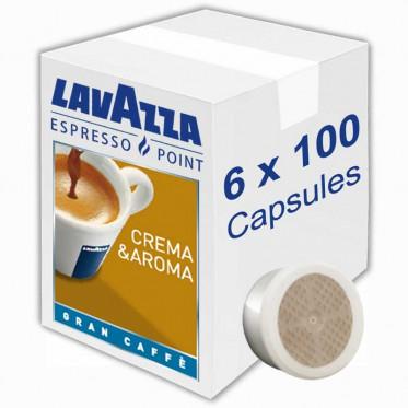 Capsule Lavazza Espresso Point Crema Aroma Gran Caffe - 6 boites - 600 capsules