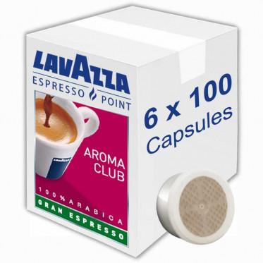 Capsule Lavazza Espresso Point Aroma Club Gran Espresso - 6 boites - 600 capsules