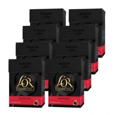 Capsule Nespresso Compatible L'Or Espresso Splendente 8 boites - 80 capsules