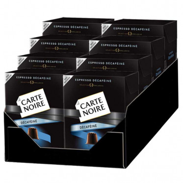Capsule Nespresso Compatible Carte Noire n°5 Espresso Décaféiné 8 boites - 80 Capsules