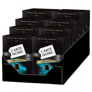 """Capsule Nespresso Compatible Carte Noire n°7 Espresso """"Aromatique"""" 8 boites - 80 Capsules"""