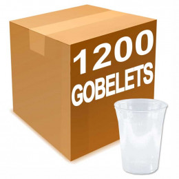 Gobelet en Plastique Transparent 40 cl pour biere 1300 verres