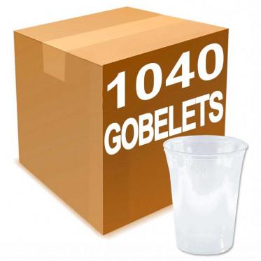 Gobelet en Plastique Transparent 50 cl pour biere 1040 verres