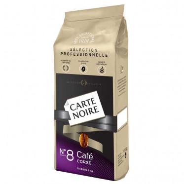 Cafe en grain pour distribution automatique Carte Noire n°8 Café Corsé
