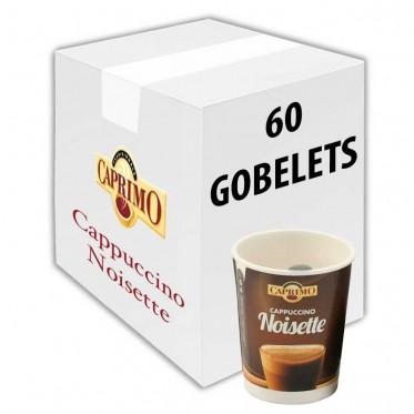 Gobelet Pré-dosé Premium au carton Caprimo Cappuccino Noisette - 60 Boissons