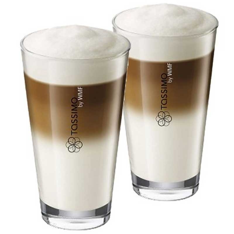 accessoires tassimo tasse latte macchiato par 2. Black Bedroom Furniture Sets. Home Design Ideas