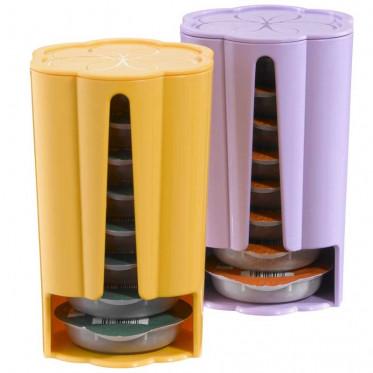 Distributeur Capsules Tassimo : Jaune - Violet - 2 x 8 T-Discs