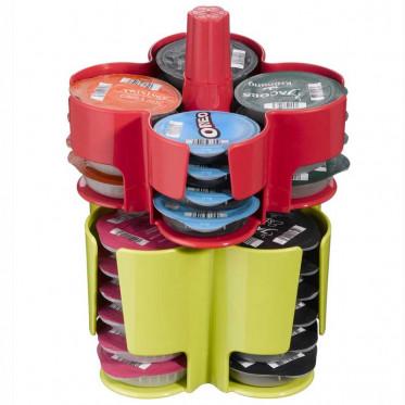 Distributeur Capsules Tassimo : Caroussel Vert - Rouge - 40 T-Discs