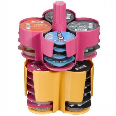 Distributeur Capsules Tassimo : Caroussel Rose - Jaune - 40 T-Discs