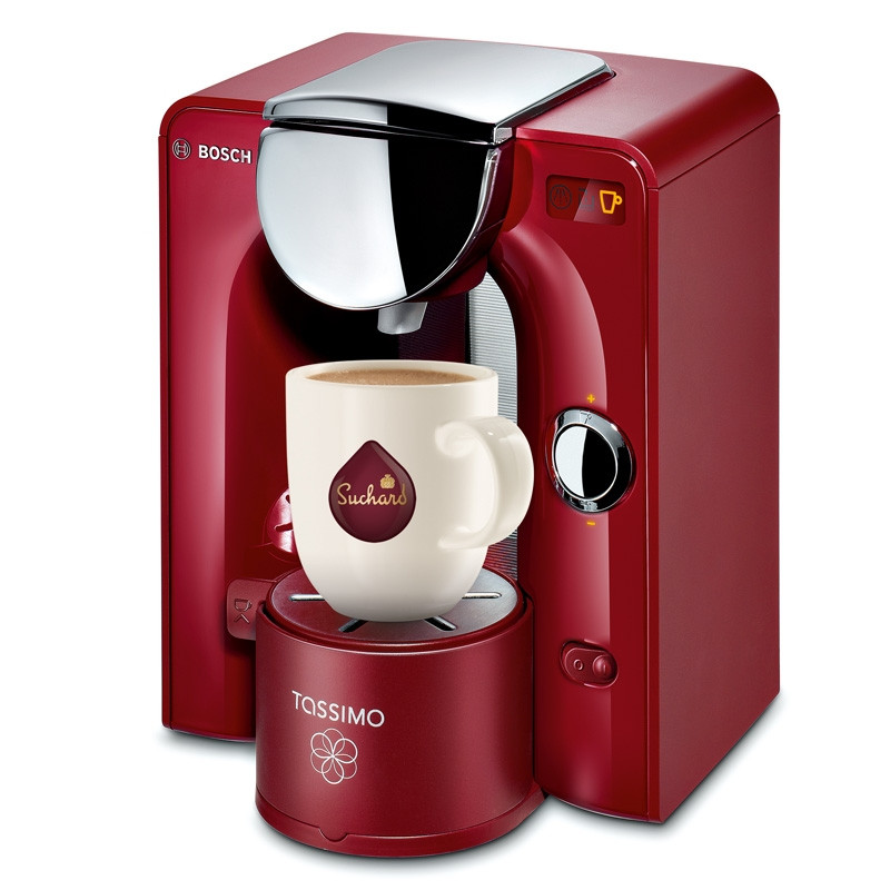machine tassimo charmy rouge et chrome bosch tas5546 tassimo. Black Bedroom Furniture Sets. Home Design Ideas