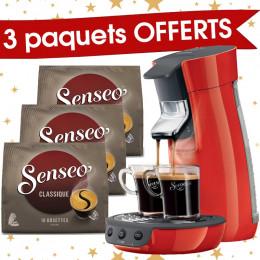Senseo Viva Café Rouge + 3 paquets de Senseo Classique offerts