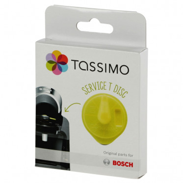 Accessoires Tassimo : T-Disc Jaune Tassimo pour détartrage : Vivy, Amia, Suny, Fidélia