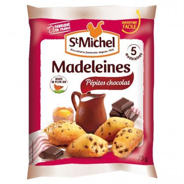 Biscuit : St Michel Madeleines Pépites Chocolat - par 5