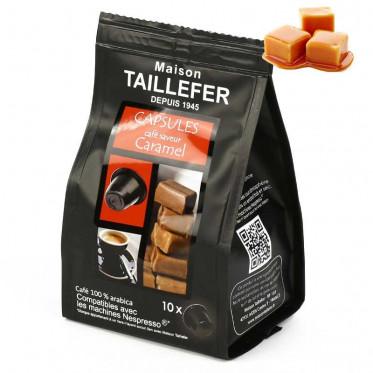 Capsule Nespresso Compatible Maison Taillefer Café Caramel - 10 capsules
