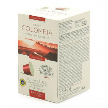 Capsule Nespresso Compatible Cie Dell'Arabica Colombia - 10 capsules