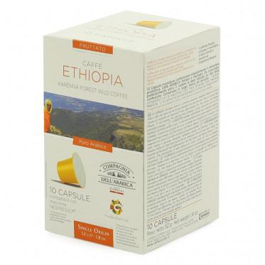 Capsule Nespresso Compatible Cie Dell'Arabica Ethiopie - 10 capsules