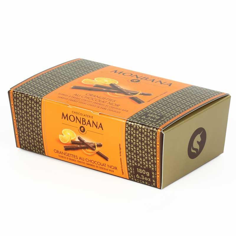 chocolat monbana ballotin d 39 orangette au chocolat noir 180 gr coffee webstore. Black Bedroom Furniture Sets. Home Design Ideas