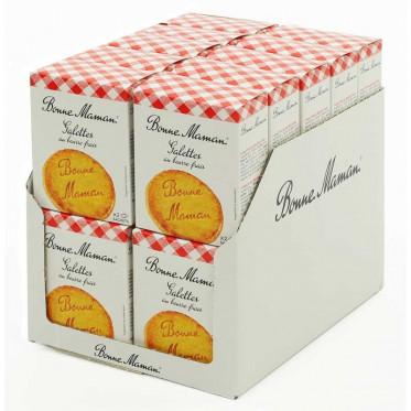 Biscuit en gros Bonne Maman : Galette au beurre frais - 20 boites - 80 pièces
