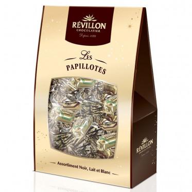 Pochette papillotes - Assortiment Chocolat Noir, Lait et Blanc 460 gr