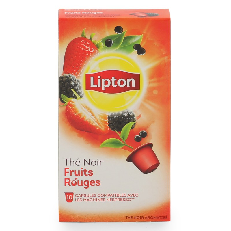 capsule nespresso compatible lipton th noir fruits rouges 12 boites 120 capsules coffee. Black Bedroom Furniture Sets. Home Design Ideas